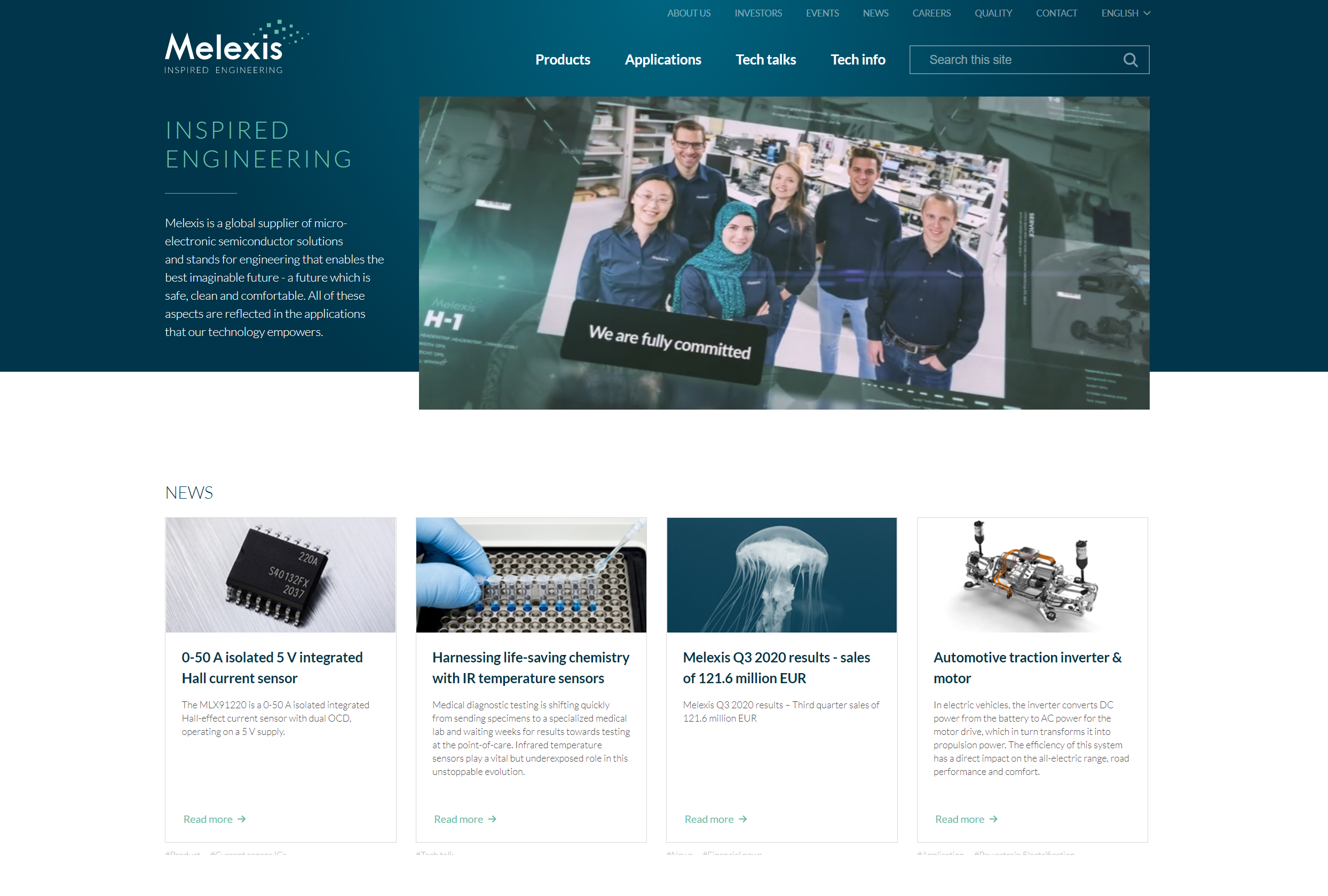 New homepage 2021 #Melexis