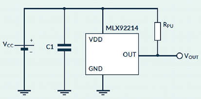 MLX92214 Application diagram