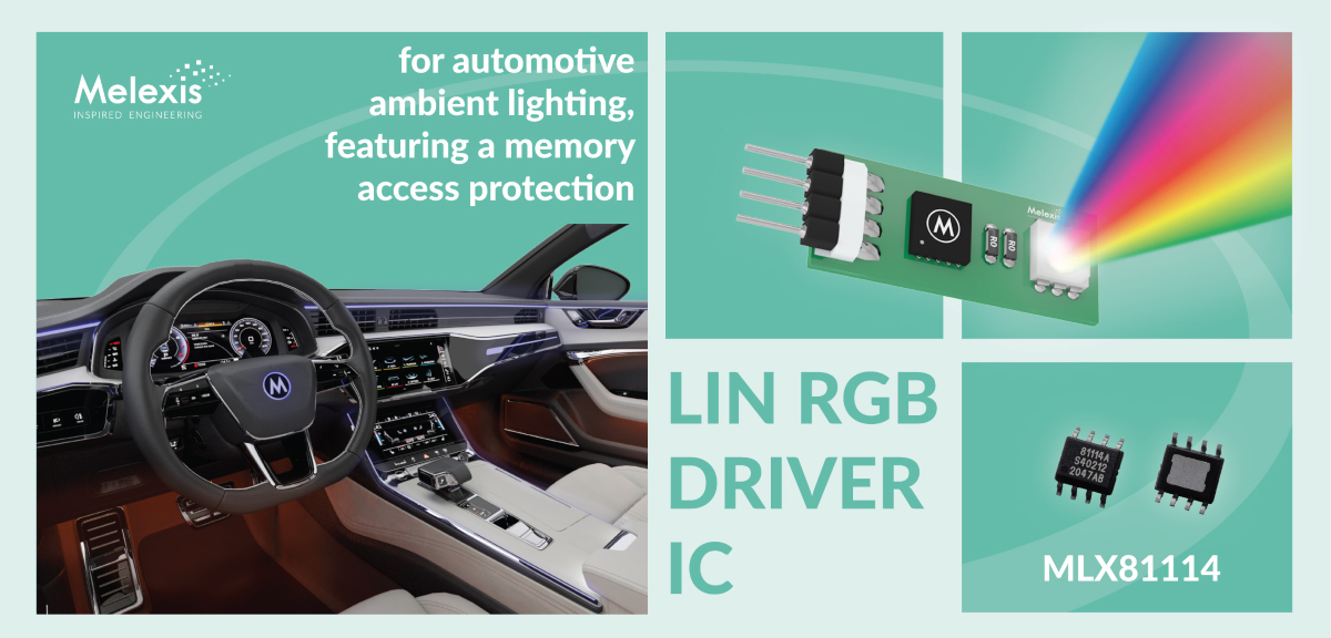 Single LIN RGB slave controller with memory access protection